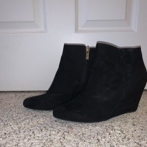 Jessica Simpson Black Wedged Booties